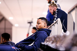 Panos Mayindombe of Bristol Flyers arrives at the Eagles Community Arena, for the BBL fixture against Newcastle Eagles - Photo mandatory by-line: Robbie Stephenson/JMP - 01/03/2019 - BASKETBALL - Eagles Community Arena - Newcastle upon Tyne, England - Newcastle Eagles v Bristol Flyers - British Basketball League Championship