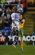 Reading - Saturday December 13th, 2008: Kalifa Cisse of Reading in action against Sammy Clingan of Norwich City during the Coca Cola Championship match at The Madjeski Stadium, Reading. (Pic by Alex Broadway/Focus Images)