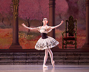The Mariinsky Ballet <br /> Mixed Bill <br /> at The Royal Opera House Covent Garden, London, Great Britain <br /> 8th August 2017 <br /> <br /> Grand Pas From Paquita<br /> <br /> Viktoria Tereshkina as Paquita<br /> <br /> <br /> <br /> <br /> <br /> <br /> Photograph by Elliott Franks <br /> Image licensed to Elliott Franks Photography Services