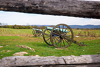 Cannon guns, Antietam National Battlefield, Sharpsburg, Maryland, USA.