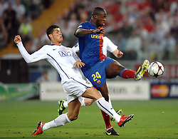 Yaya Toure and Cristiano Ronaldo during the final of the UEFA football Champions League on May 27, 2009 at the Olympic Stadium in Rome.