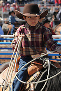 Youths compete in the Fiesta de Los Vaqueros, an annual rodeo in Tucson, Arizona, USA.