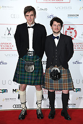 Ross Hogg and Duncan Cowles arriving at the London Film Critics Circle Awards 2017, the May Fair Hotel, London.
