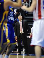 KOSARKA, BEOGRAD, 24. Dec. 2010. -  Trener Crvene zvezde Mihajlo Uvalin. Utakmica 13. kola NLB lige  u sezoni (2010/2011) izmedju Crvene zvezde i Zagreba. Foto: Nenad Negovanovic