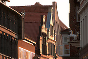 Giebel, historisches Gebaeude, Altstadt, Lueneburg, Niedersachsen, Deutschland.| .historic building, Lueneburg, Lower Saxony, Germany.