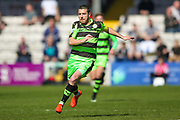Forest Green Rovers midfielder Liam Noble (15) closes down during the Vanarama National League match between Lincoln City and Forest Green Rovers at Sincil Bank, Lincoln, United Kingdom on 25 March 2017. Photo by Simon Davies.