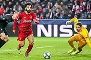 Liverpool forward Mohamed Salah (11) heads towards goal during the Champions League match between FC Red Bull Salzburg and Liverpool at the Red Bull Arena, Salzburg, Austria on 10 December 2019.