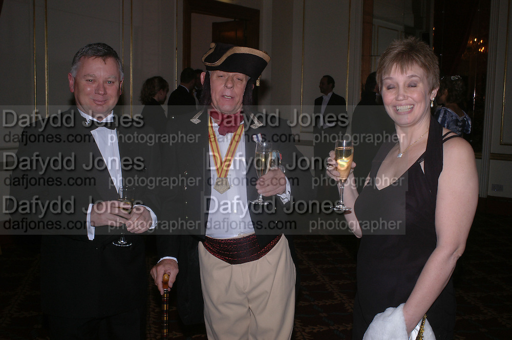 Philip Hawes, Prince Michael Obelensky and Anne Hawes, The St. Petersburg Ball, In aid of the Children's Fire and Burn Trust-Russia 2005.  The Cafe Royal. 3 February 2006. -DO NOT ARCHIVE-© Copyright Photograph by Dafydd Jones 66 Stockwell Park Rd. London SW9 0DA Tel 020 7733 0108 www.dafjones.com