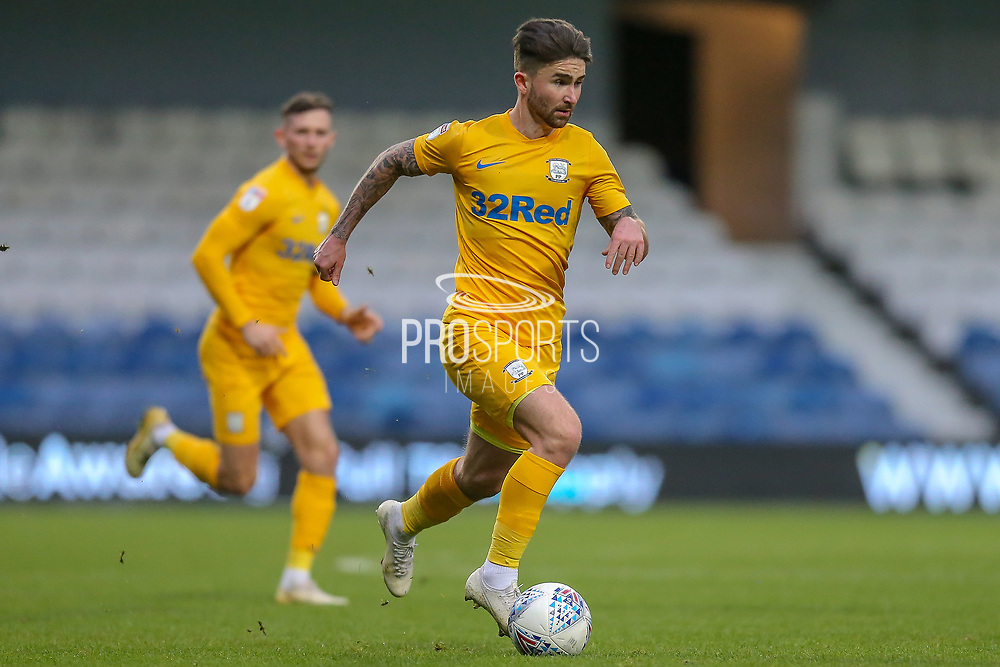 Preston North End forward Seán Maguire (24) during the EFL Sky Bet Championship match between Queens Park Rangers and Preston North End at the Kiyan Prince Foundation Stadium, London, England on 7 December 2019.