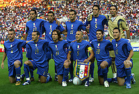 KAISERSLAUTERN, GERMANY - JUNE 17: Team of Italy during the FIFA World Cup Germany 2006 Group E match between Italy and USA at the Fritz-Walter Stadium on June 17, 2006 in Kaiserslautern, Germany.(Photo by Manuel Queimadelos)