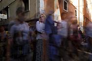 Emma Gaggio – lavora nell'alto artigianato del velluto veneziano. Ponte del Lovo. 17/09/18, 16:43