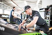 January 4, 5, 6, 2019. IMSA Weathertech Series ROAR test. #11 GRT Grasser Racing Team Lamborghini Huracan GT3, Orange 1 Racing, GTD: Mirko Bortolotti, Christian Engelhart, Kang Ling