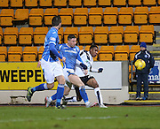 St Johnstone&rsquo;s Michael O'Halloran can't stop Dundee&rsquo;s Riccardo Calder getting in a cross - St Johnstone v Dundee, Ladbrokes Scottish Premiership at McDiarmid Park<br /> <br />  - &copy; David Young - www.davidyoungphoto.co.uk - email: davidyoungphoto@gmail.com