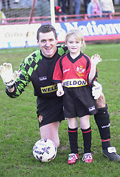 MASCOT FOR CHESTER GAME WITH IAN BOWLING GOALLKEEPER, 4/1/03Kettering Town v Chester Rockingham Road, 4th January 2003