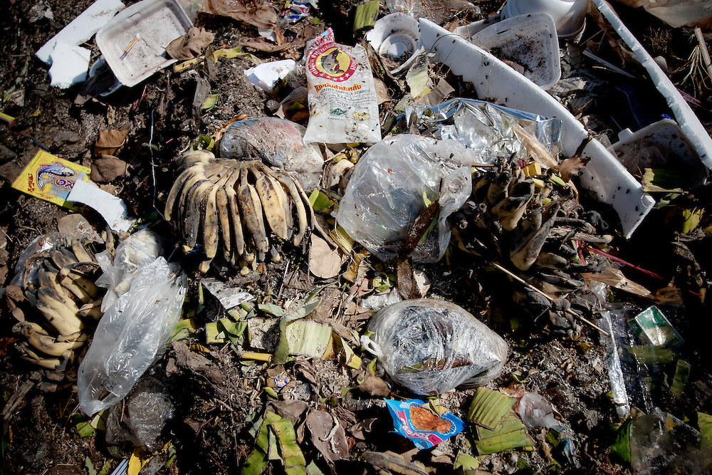 Pile of garbage in the Maepa trash dump in Mae Sot. The rubbish dump, few kilometers from the Burmese border it's a refuge for many migrants from Burma who reside here with respiratory problems and harassment from Thai authorities.
