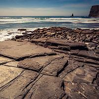 Stone beach in Portugal