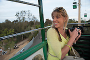 Andrea Brake enjoying the view from the San Diego Zoo aerial tramway, San Diego, California.
