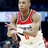 09 December 2017: Washington Wizards guard Tim Frazier (8) passes the ball during the LA Clippers 113-112 victory over the Washington Wizards, at the Staples Center, Los Angeles, California, USA.