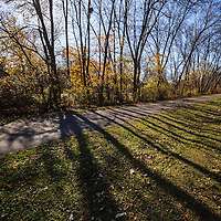 Photo of Frankfort Old Plank Road Trail in Frankfort Illinois.  The Old Plank Road Trail is a 22 mile long public path and former railroad track train route that runs through Frankfort. Frankfort is a Southwest Chicago suburb.