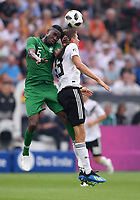 FUSSBALL  INTERNATIONAL TESTSPIEL  IN LEVERKUSEN Deutschland -  Saudi-Arabien              08.06.2018 Omar Othman (li, Saudi-Arabien) gegen Thomas Mueller (re, Deutschland)