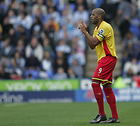 Photo: Lee Earle.<br /> Reading v Watford. The Barclays Premiership. 05/05/2007.Watford's Marlon King celebrates after scoring their second goal.