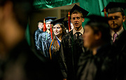 Nicole Cordonnier participates in undergraduate commencement ceremonies. Photo by Ben Siegel