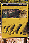 Interpretive sign at the Wildrose Charcoal Kilns, Death Valley National Park. California