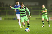 Forest Green Rovers Elliott Frear(11) on the ball during the Vanarama National League match between Forest Green Rovers and Dover Athletic at the New Lawn, Forest Green, United Kingdom on 17 December 2016. Photo by Shane Healey.