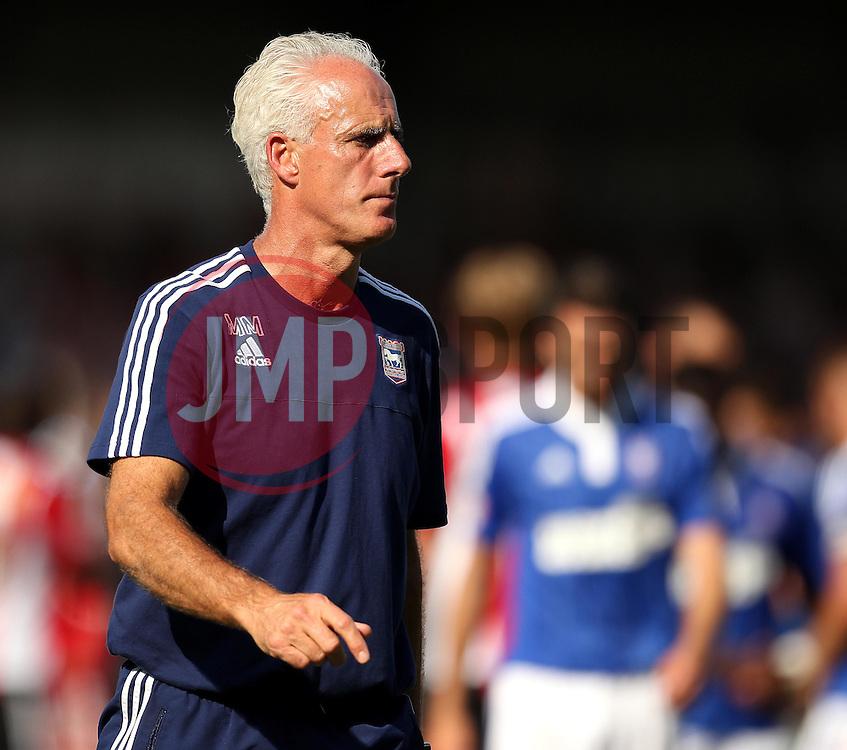 Ipswich Town Manager, Mick McCarthy - Mandatory by-line: Robbie Stephenson/JMP - 07966386802 - 08/08/2015 - SPORT - FOOTBALL - Brentford,England - Griffin Park - Brentford v Ipswich Town - Sky-Bet Championship
