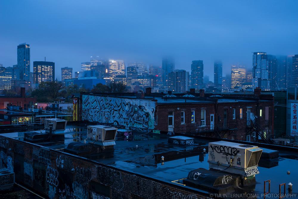 Toronto Skyline, Rainy Morning