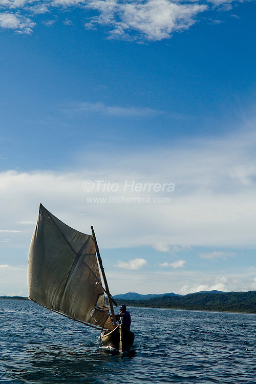 Sailboat. San Blas, Panama