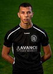"""Portret of Karim el Khinifri of VV Maarssen. Photoshoot of the selection 2020-2021, sat 1 of VV Maarssen with the Corona rule """"1.5 meters away"""" on 16 June 2020, sports park Daalseweide in Maarssen."""