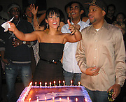 "Alicia Keys was dancing in front of her Birthday Cake before blowing it & Kerry ""Krucial"" Brothers.Alicia Keys 26th Birthday Party.Bed Nightclub.New York, NY, USA .Wednesday, January 24, 2007.Photo By Selma Fonseca/Celebrityvibe.com.To license this image call (212) 410 5354 or;.Email: celebrityvibe@gmail.com; .Website: http://www.celebrityvibe.com/."
