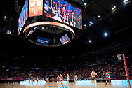 SYDNEY, NSW - JUNE 16: Play about to start in second quarter during the round 8 Super Netball match between the Sydney Swifts and the Giants at Qudos Bank Arena on June 16, 2019 in Sydney, Australia.(Photo by Speed Media/Icon Sportswire)