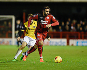 Crawley midfielder, and scorer of a penalty, Simon Walton during the Sky Bet League 2 match between Crawley Town and Northampton Town at the Checkatrade.com Stadium, Crawley, England on 24 November 2015. Photo by David Charbit.