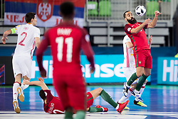 Tunha of Portugal during futsal match between Portugal and Spain in Final match of UEFA Futsal EURO 2018, on February 10, 2018 in Arena Stozice, Ljubljana, Slovenia. Photo by Urban Urbanc / Sportida
