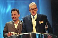 Bob Mortimer and Vic Reeves at The BRIT Awards 1995 <br /> Monday 20 Feb 1995.<br /> Alexandra Palace, London, England<br /> Photo: JM Enternational