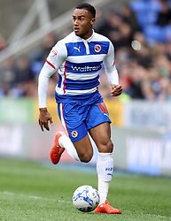 Reading's Jordan Obita on the ball - Photo mandatory by-line: Robbie Stephenson/JMP - Mobile: 07966 386802 - 04/04/2015 - SPORT - Football - Reading - Madejski Stadium - Reading v Cardiff City - Sky Bet Championship