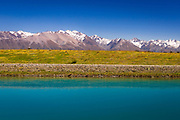The Southern Alps from the Tekapo Canal, Lake Tekapo, Canterbury, South Island, New Zealand