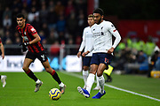 Joe Gomez (12) of Liverpool passes the ball during the Premier League match between Bournemouth and Liverpool at the Vitality Stadium, Bournemouth, England on 7 December 2019.
