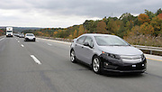 The pre-production Chevrolet Volt engineering test drive along I-80 near Cleveland, Ohio Tuesday, October 13, 2009.