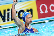 03-08-2015: Waterpolo: Rusland v Nederland: Kazan<br /> <br /> Nomi Stomphorst of team Netherlands<br /> <br /> Waterpolo match between ladies of Russia and The Netherlands during the 16th FINA World Championships 2015 in Kazan