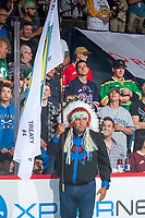 REGINA, SK - MAY 27: First Nations Chief at the Brandt Centre on May 27, 2018 in Regina, Canada. (Photo by Marissa Baecker/CHL Images)