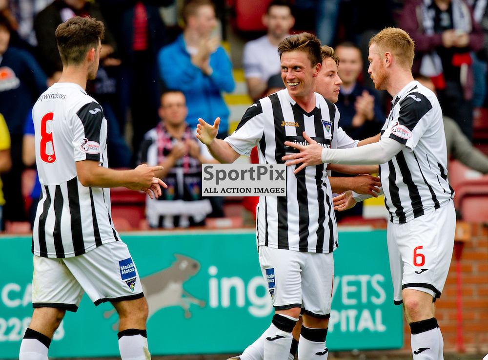 Dunfermline Athletic v Cowdenbeath SPFL League One Season 2015/16 East End Park 15 August 2015<br /> Joe Cardle celebrates the 7th goal<br /> CRAIG BROWN   sportPix.org.uk