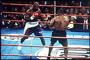 28 June 1997:  Evander Holyfield defeats Mike Tyson in their second fight at the MGM Grand in Las vegas, NV..Mandatory Credit:  VJ Lovero/Icon SMI