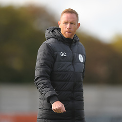 TELFORD COPYRIGHT MIKE SHERIDAN Telford boss Gavin Cowan during the National League North fixture between Blyth Spartans and AFC Telford United at Croft Park on Saturday, September 28, 2019<br /> <br /> Picture credit: Mike Sheridan<br /> <br /> MS201920-023