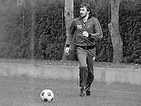 John McClelland, footballer, Mansfield Town FC & N Ireland, at a training session prior to N Ireland's November 1980 game against Portugal at Windsor Park. 19801100399g<br /> <br /> Copyright Image from Victor Patterson, 54 Dorchester Park, Belfast, UK, BT9 6RJ<br /> <br /> t: +44 28 90661296<br /> m: +44 7802 353836<br /> vm: +44 20 88167153<br /> e1: victorpatterson@me.com<br /> e2: victorpatterson@gmail.com<br /> <br /> For my Terms and Conditions of Use go to www.victorpatterson.com