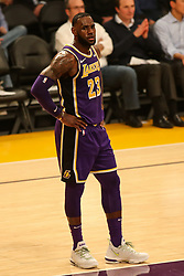 February 27, 2019 - Los Angeles, CA, U.S. - LOS ANGELES, CA - FEBRUARY 27: Los Angeles Lakers Forward LeBron James (23) during the first half of the New Orleans Pelicans versus Los Angeles Lakers game on February 27, 2019, at Staples Center in Los Angeles, CA. (Photo by Icon Sportswire) (Credit Image: © Icon Sportswire/Icon SMI via ZUMA Press)