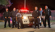 Members of the Houston ISD Police Department Members of HISD's Third Watch (L-R) Officer James Bibb, Officer David Sepulveda, Sgt. Denise Royal, Officer Steve Olivos, Officer Freddy Vasquez, and Officer Quentin Wilson prepare to begin their overnight shift, November 6, 2013.