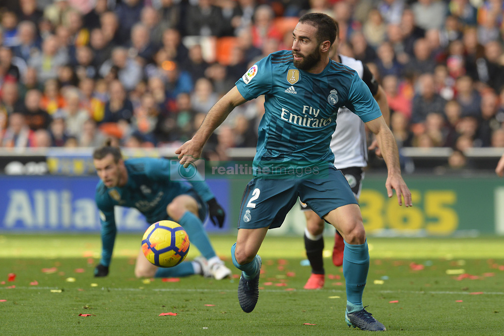 January 27, 2018 - Valencia, Spain - Carvajal during the match between Valencia CF against Real Madrd, week 21 of La Liga 2017/187 at Mestala stadium, Valencia, SPAIN - 27th January of 2018. (Credit Image: © Jose Breton/NurPhoto via ZUMA Press)